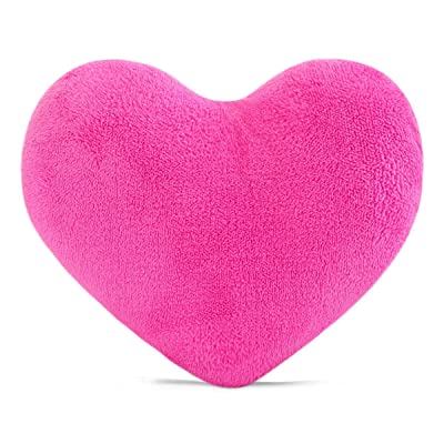 YINGGG Cute Plush Red Heart Pillow Cushion Toy Throw Pillows Gift for Kids' Friends/Children/Girl/Valentine's Day Fit for Living Room/Bed Room/Dining Room/Office and Sofa/Cars/Chairs (Rose Red): Home & Kitchen