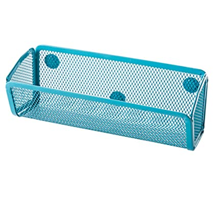 Ozzptuu Sturdy Metal Mesh Magnetic Storage Container Caddy Basket Holder  For Whiteboard/Refrigerator/Microwave