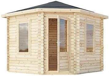 Green Planet UK - 3m x 3m Corner Cabin, Summerhouse, Garden