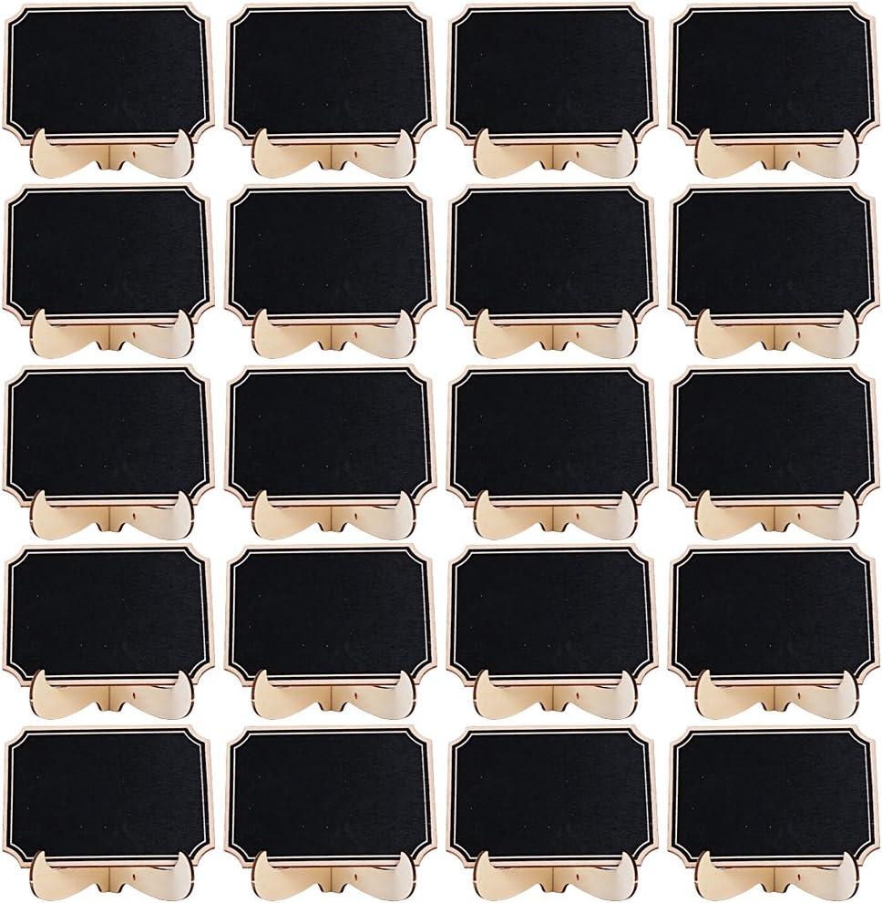 per matrimoni e feste A forma di cuore. in legno Set di 10 mini lavagne SunshineFace