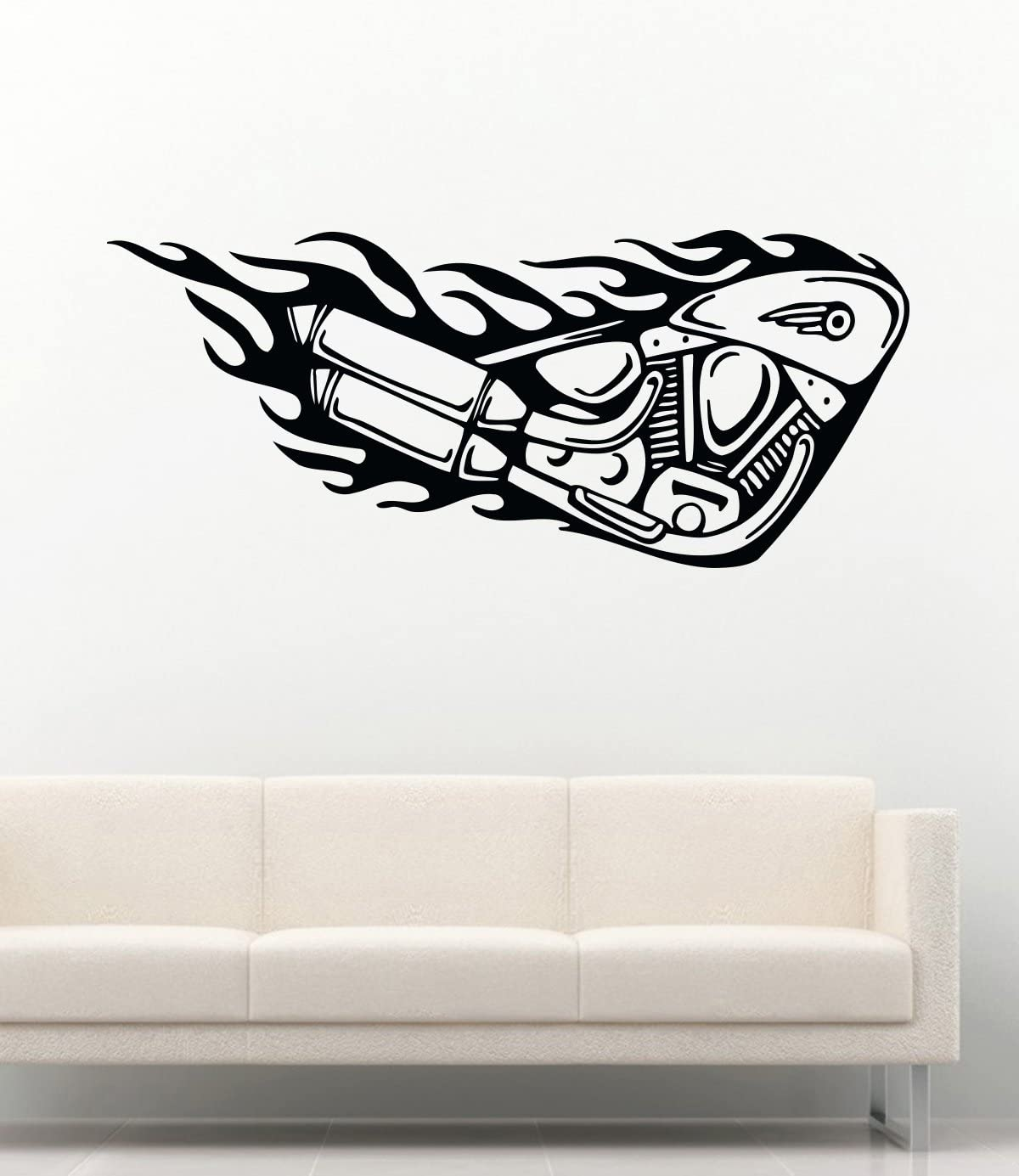 Classic Easy Rider Style Motorcycle Low Rider Chopper Window Wall Decal Sticker