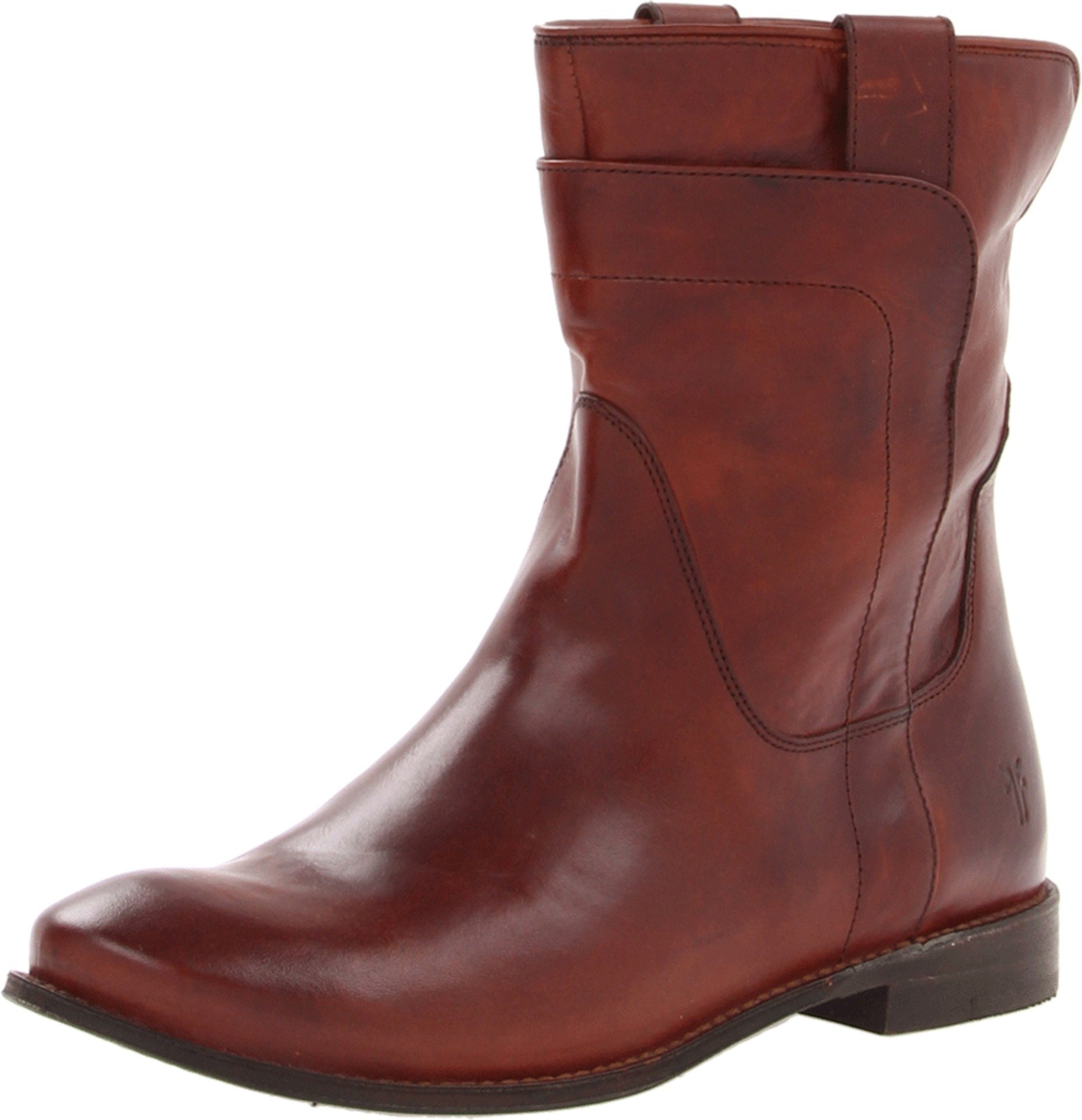 FRYE Women's Paige Short Riding Boot, Redwood Smooth Vintage Leather, 7.5 M US