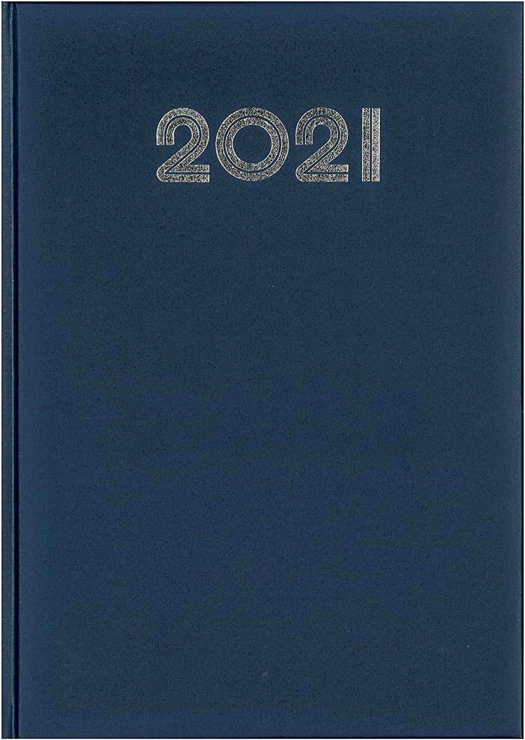 Agenda Giornaliera Notabene A4 2021 21x29,7 Sabato e Dom Separati Gommato Blu