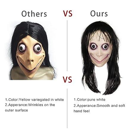 molezu Momo Máscaras De Látex, Halloween y Navidad Terror máscaras látex Decorativas