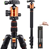 VICTIV Camera Tripod 81 inches Monopod, Aluminum Travel Tripod for DSLR, Lightweight Tripod Loads up to 19 lbs with 360 Degre