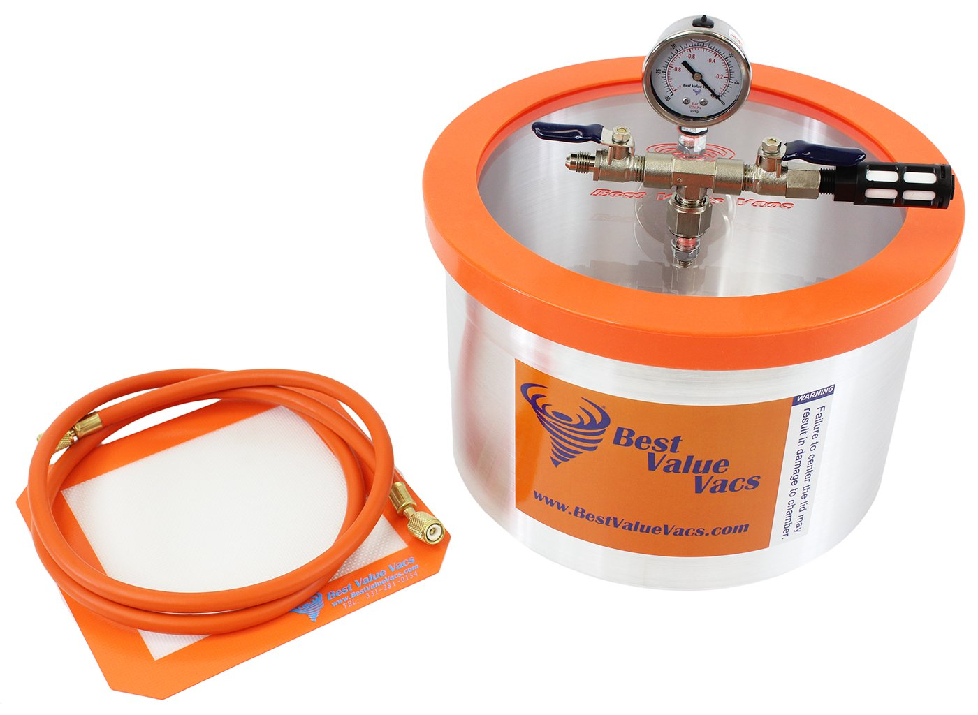Vacuum Chamber by Best Value Vacs- 2 Gallon Vacuum & Degassing Chamber