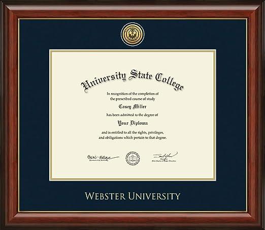 Signature Announcements Saint Louis University Doctorate Sculpted Foil Seal Name /& Tassel Graduation Diploma Frame 20 x 20 Matte Mahogany