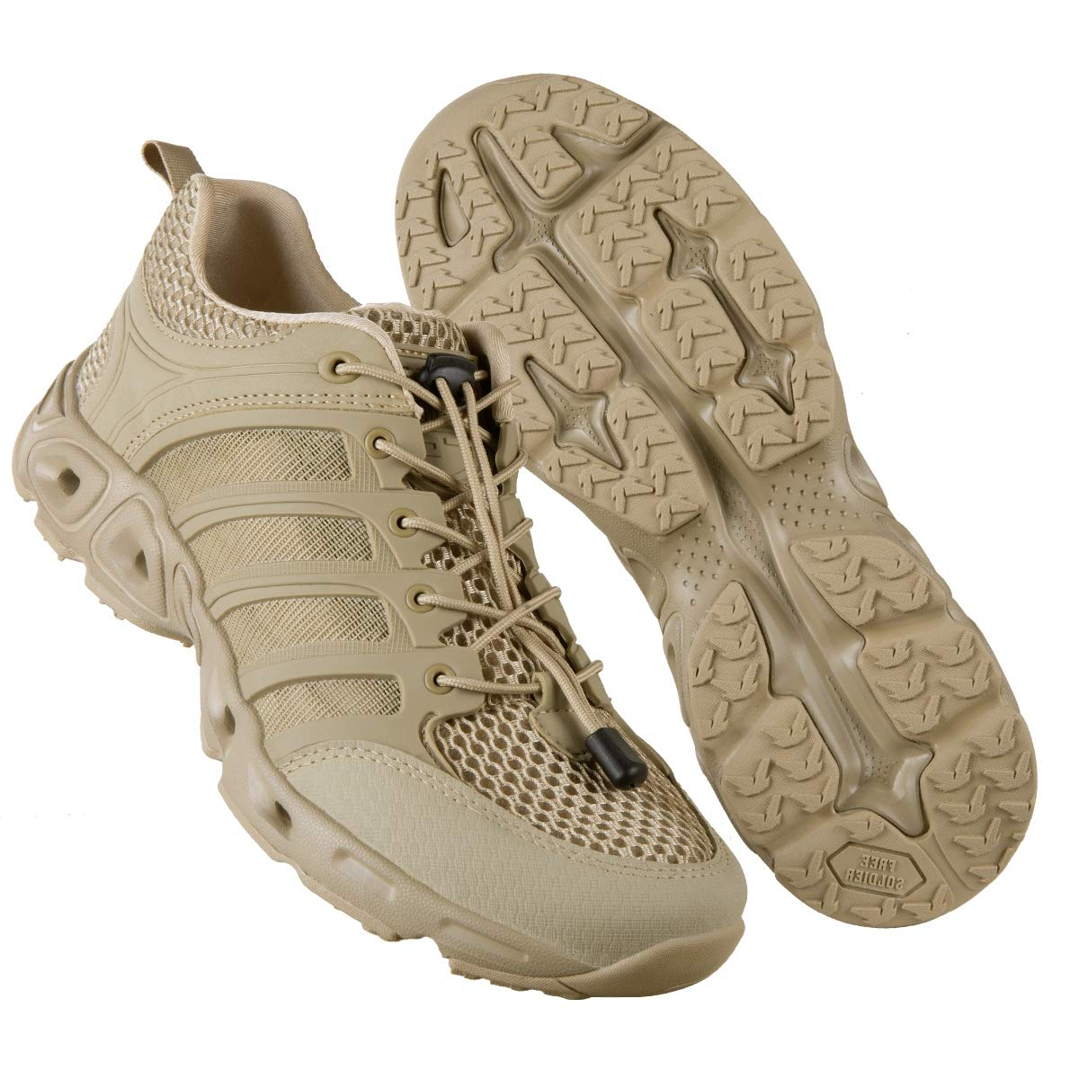 FREE SOLDIER Outdoor Men's Quick Drying Lightweight Sport Hiking Water Shoes (Sand 10.5 M US)