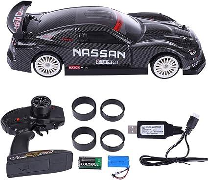 Amazon Com Hmane 1 14 2 4g 4wd Rc Racing Car Remote Control 20km H High Speed Vehicle Rc Drift Car Toy Carbon Fiber Black Toys Games