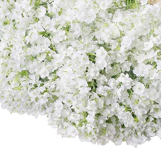 "24/"" Tall White Baby/'s Breath Gypsophila Silk Wedding Flowers Centerpieces Decor"