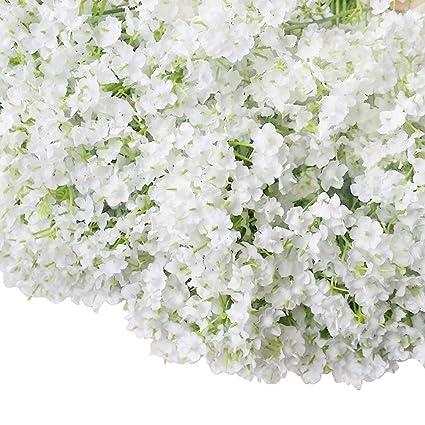 Amazon bringsine baby breathgypsophila wedding decoration bringsine baby breathgypsophila wedding decoration white colour silk artificial flowers 60 pieceslot mightylinksfo