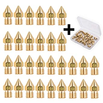 0.8mm 0.3mm 0.5mm 1.0mm with Free Storage Box 30pcs for 3D Printer Makerbot Creality CR-10 Ender 3 5 MK8 Extruder Nozzle 0.2mm 0.6mm 0.4mm
