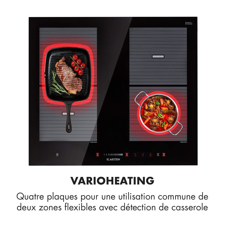 Klarstein Virtuosa Flex 60 • Placa de inducción • Encastrada ...