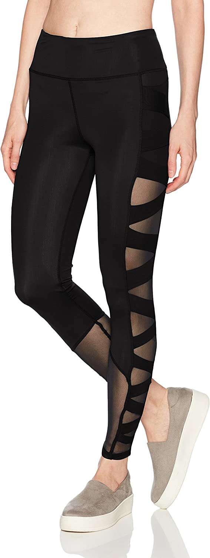 Sam Edelman Womens Criss Cross Mesh Legging