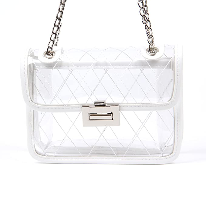 700841a82459 Freie Liebe Clear Cross Body Messenger Shoulder Bags Lock Handbags ...