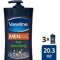 Vaseline Men Body Lotion, Fast Absorbing, 20.3 oz, 3 count