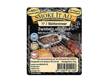 Smoke it All BBQ serrín – Gránulos aromáticos para quemador con Especias – watten Mar de