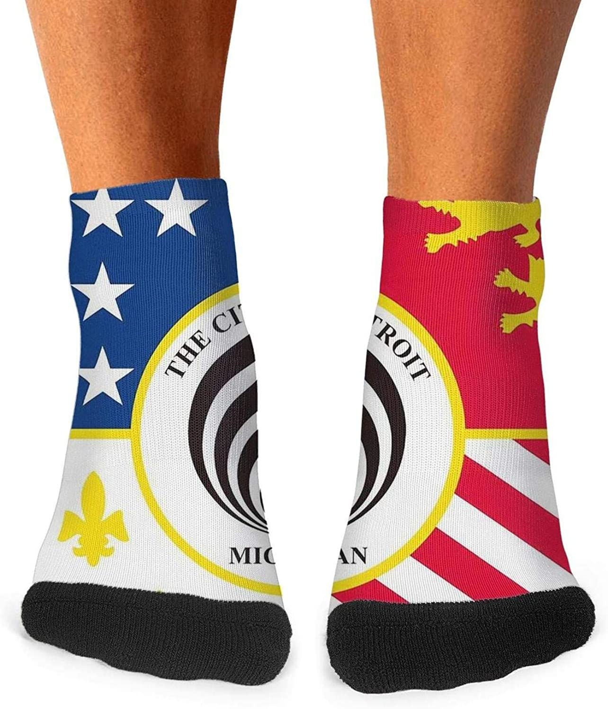 2019 Detroit Bassnectar Flag mens crew socks fun no show socks cotton short for men ankle socks