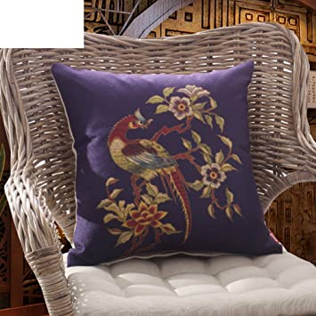 Amazon Com Linen Pillow Classical Dragon Sofa Cushions China Wind