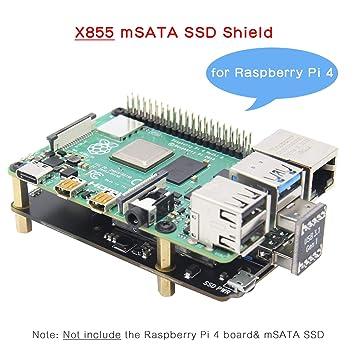 Amazon.com: Geekworm Raspberry Pi 4 mSATA Storage, Raspberry ...