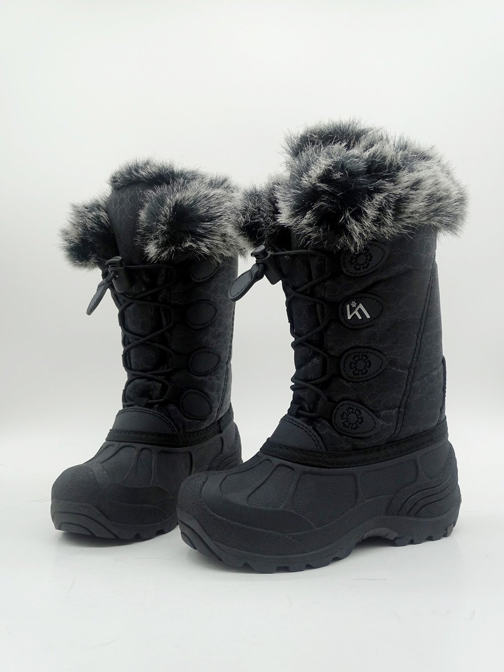 Kids Winter Snow Boots Waterproof and Insulated for Girls and Boys (13 M US Little Kid, Black) by ICEFACE (Image #7)