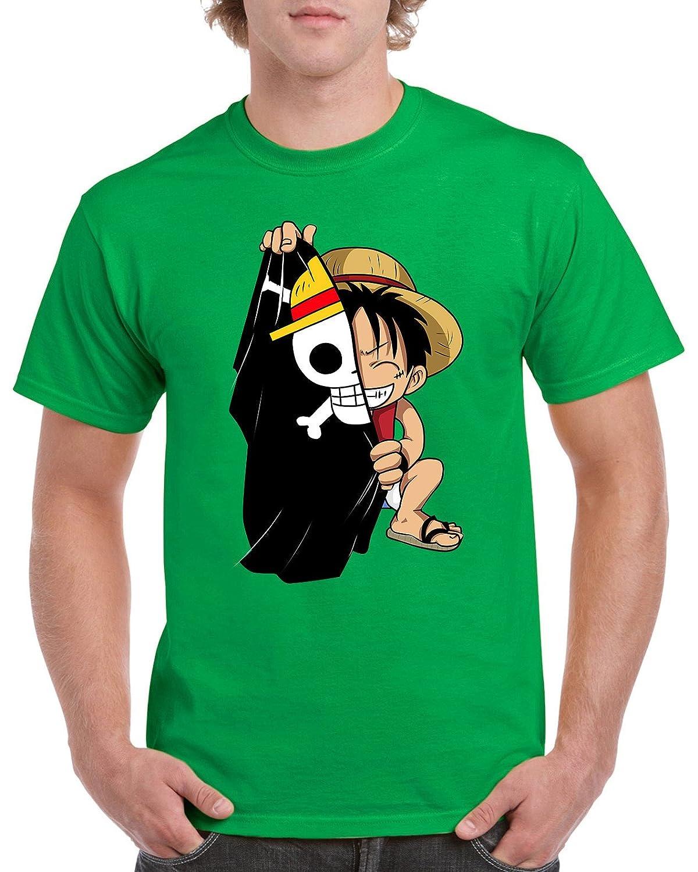 PsychoDelicia Camisetas La Colmena 3330-Camiseta Luffy Flag