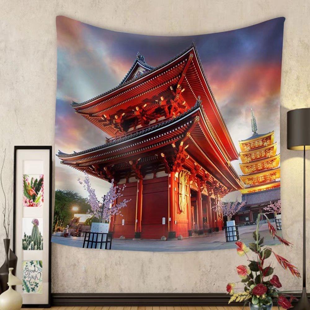 Niasjnfu Chen Custom tapestry Tokyo - Sensoji-Ji Temple in Asakusa Japan - Fabric Wall Tapestry Home Decor