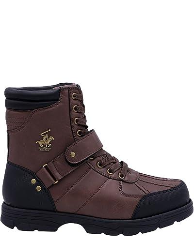 afa8ce56f16 Beverly Hills Polo Club Men's Ranger Hi Boots, Brown, 7: Amazon.co ...