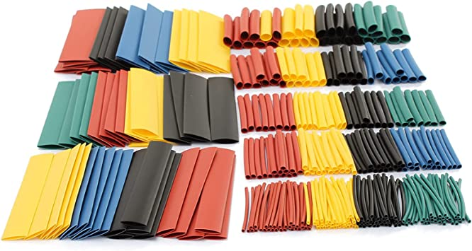 color Heat Shrink Tube Wrap Sleeve Assorted Tubing Wire Electrical Cable Tubes