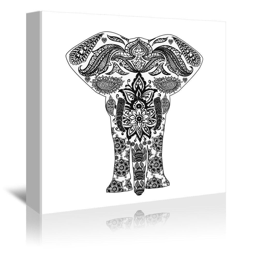 Americanflat Gallery Wrapped Canvas - India Elephant Symbol - Wonderful Dream, 32'' x 48''