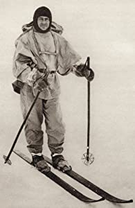 Captain Robert Falcon Scott 1868 To 1912 British Royal Navy Officer And Antarctic Explorer From South With Scott By Rear Admiral ERGR Evans Poster Print (22 x 36)