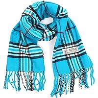 Cashmere Feel Rayon Plaid Scarf, Amazing Soft, Cozy Warm, Stylish Fashion Accessories