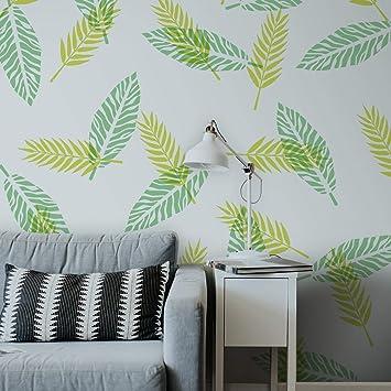 Tropikal Yapraklar 2 Stencil Tasarımı 30 X 30 Cmboyama şablonu