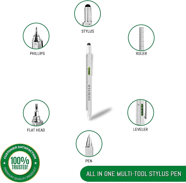 1 X Multi-Tool 6in1 Stifte Kugelschreiber Level Caliper Schraubendreher ^\