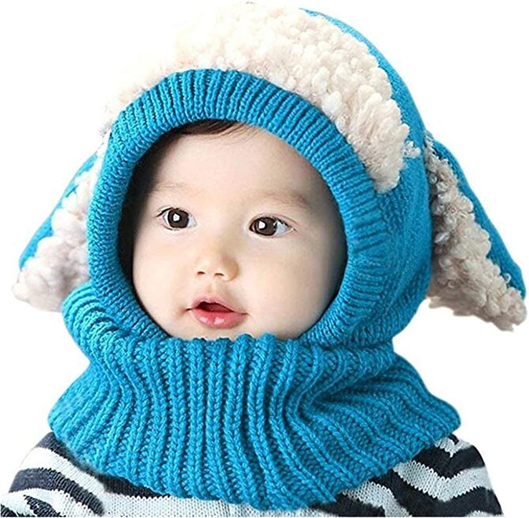 Suitable for boy and Girls 6-36 Months ASLEAK Winter Baby Hats Toddler Winter Hat Scarf Set Baby Warm Knit Hat Scarves with Ears