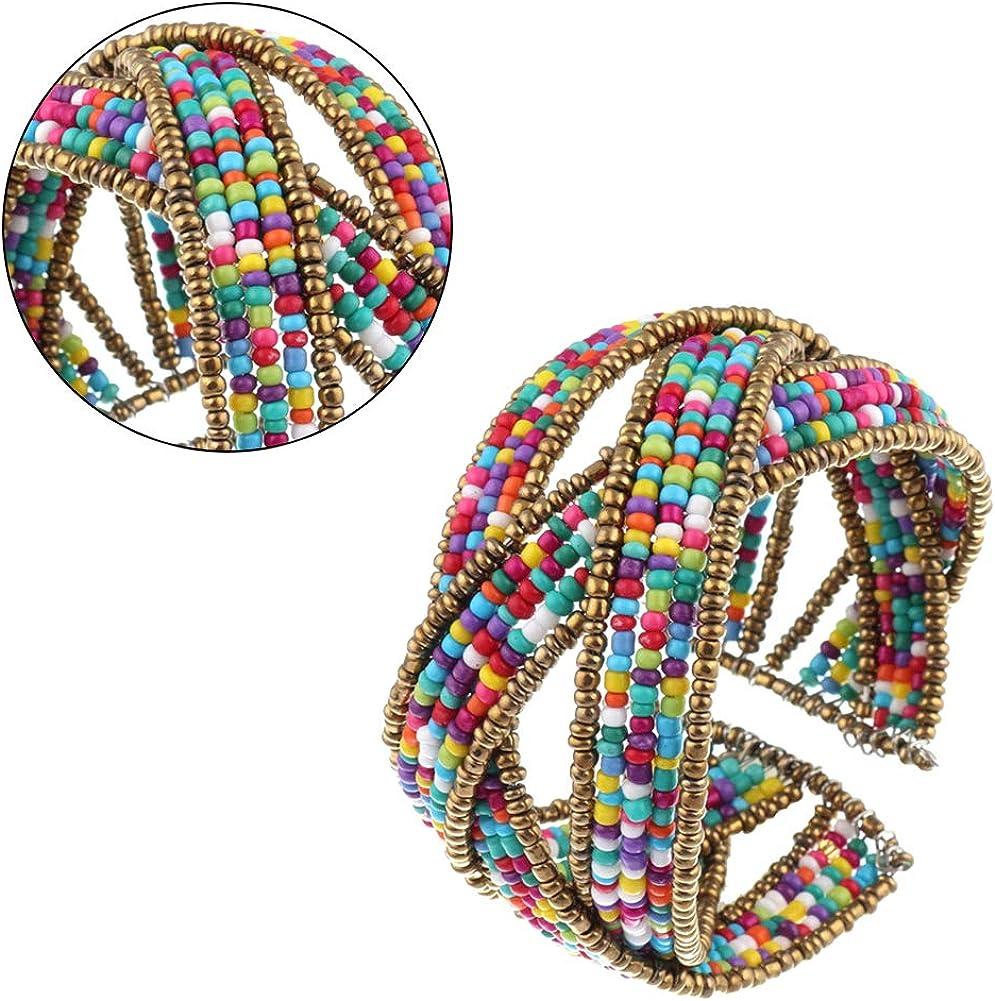 Creative Bohemian Style Bracelet Fashion Colorful Beaded Bracelet Delicate Jewelry for Women Girls 1pc