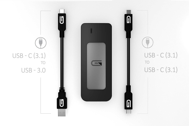 Glyph 525 GB Atom USB 3.1 Type-C External Solid State Drive/ Grey