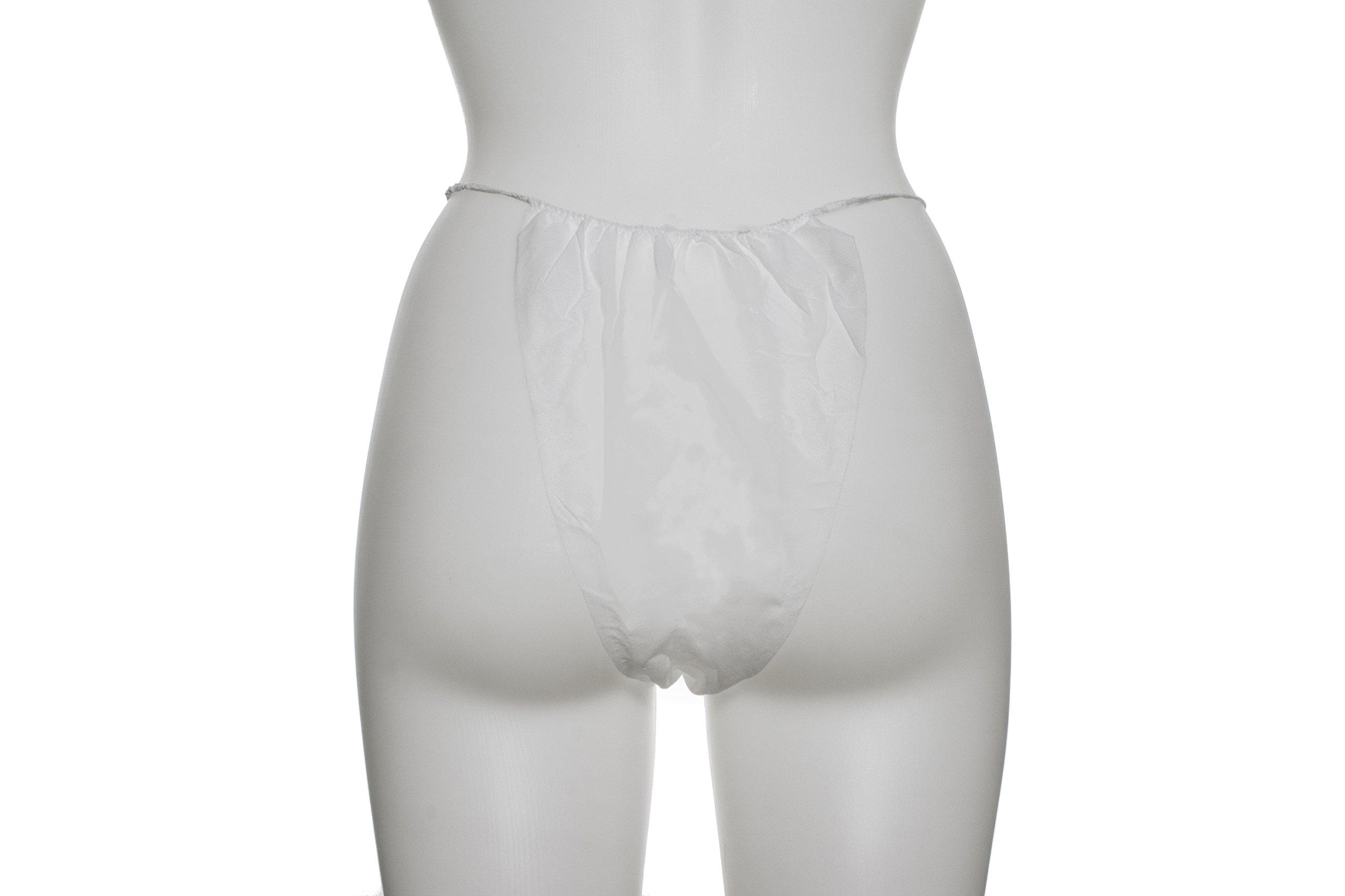 Dukal 900506-1 White Bikini Panty (Pack of 1000) by Dukal