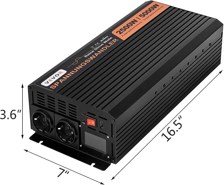 Oldfe 230v Reiner Sinus Wechselrichter Spannungswandler 2500w Reiner Sinuswellen Wechselrichter 24v Dc Pure Sine Wave Power Baumarkt