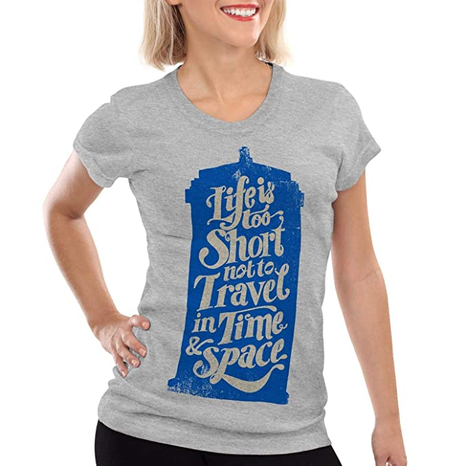 Time Doctor Dalek Dr Time Police Box Doctor Who Women's T