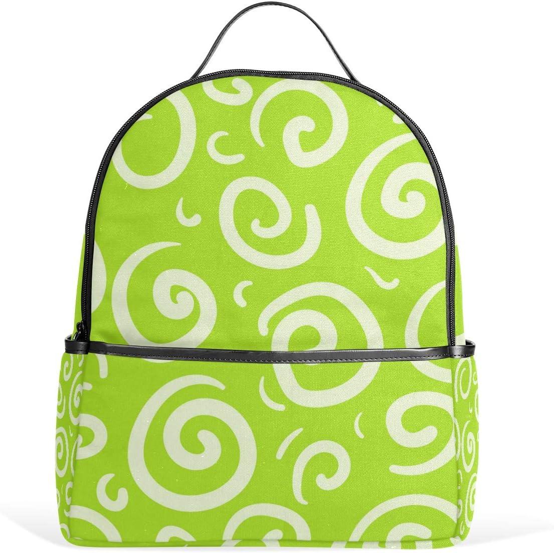 FANTAZIO handbag shoulder White Circle Green Background shoulder Handbag