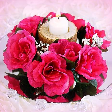 Amazon.com: Inna-Wholesale Art Crafts New 8 Fuchsia Candle ...