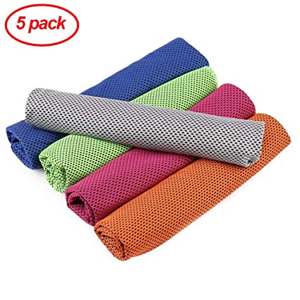 Amazon.com : BYMYWAY 5 Pack Cooling Towel Fitness Yoga ...