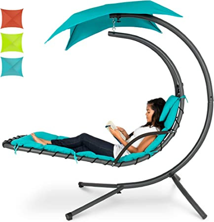 Amazon Com Best Choice Products Outdoor Hanging Curved Chaise