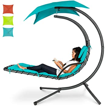 Best Choice Products Outdoor Hanging Curved Pool Lounge Chair