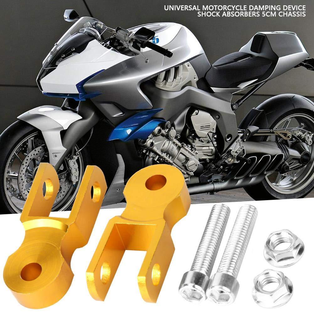 Mit Schraube Universal D/ämpfung erh/öhen Ger/ät Gold Duokon 2pcs 5cm Chassis Motorrad Sto/ßd/ämpfer