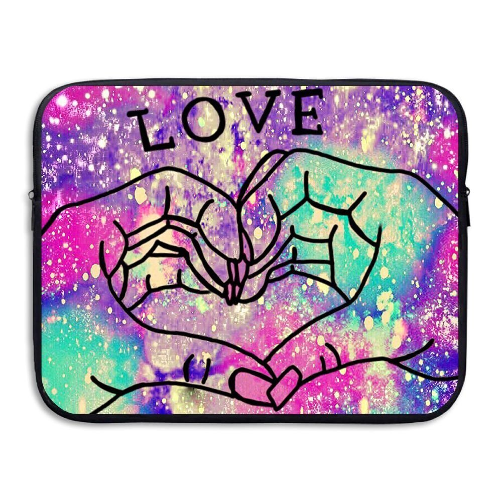 Love Gesture Funny Art Laptop Storage Bag - Portable Waterproof Laptop Case Briefcase Sleeve Bags Cover