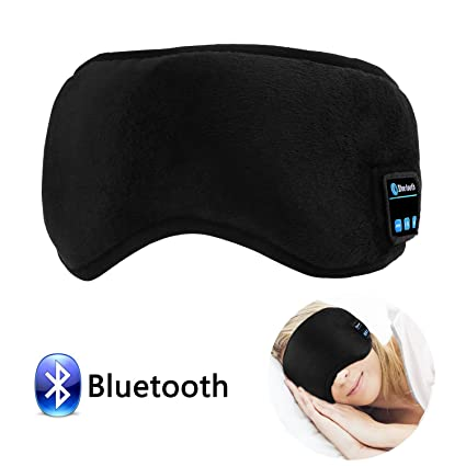 5e84886e4c6 Bluetooth Sleep Eye Mask with Wireless Headphones, LC-dolida Sleeping Eye  Shades Headphone Handsfree Music Headset Earpiece Washable for Traveling:  ...