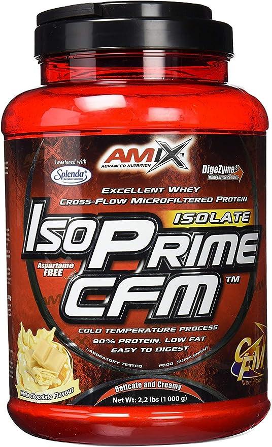 AMIX Isoprime CFM Isolate - 1 Kg Doble Chocolate blanco