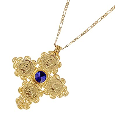Amazon ethiopian big red blue green stone cross pendants ethiopian big red blue green stone cross pendants necklaces african jewelry blue aloadofball Image collections
